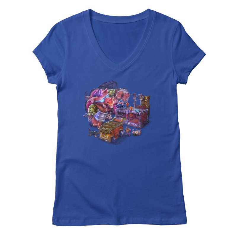 Toytles Women's Regular V-Neck by dustinlincoln's Artist Shop