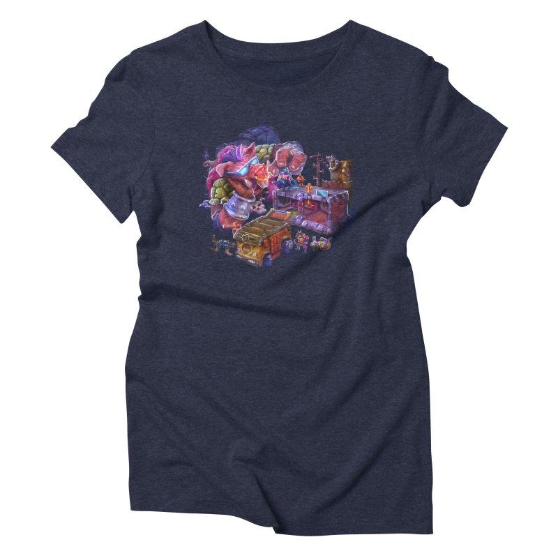 Toytles Women's Triblend T-Shirt by dustinlincoln's Artist Shop
