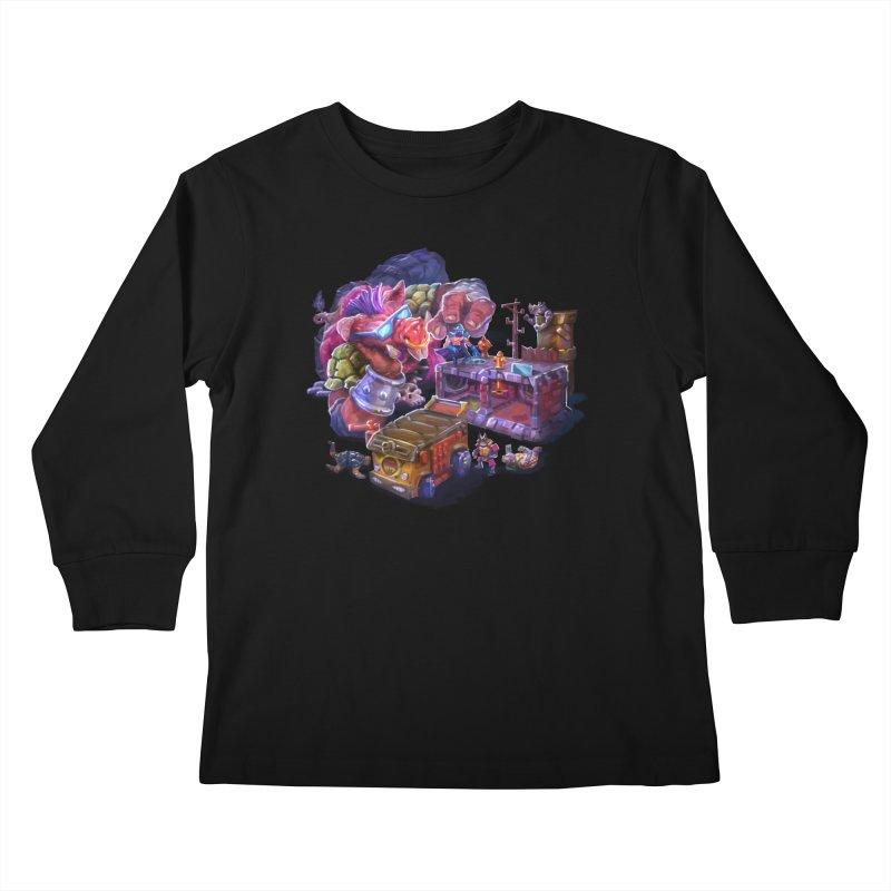 Toytles Kids Longsleeve T-Shirt by dustinlincoln's Artist Shop