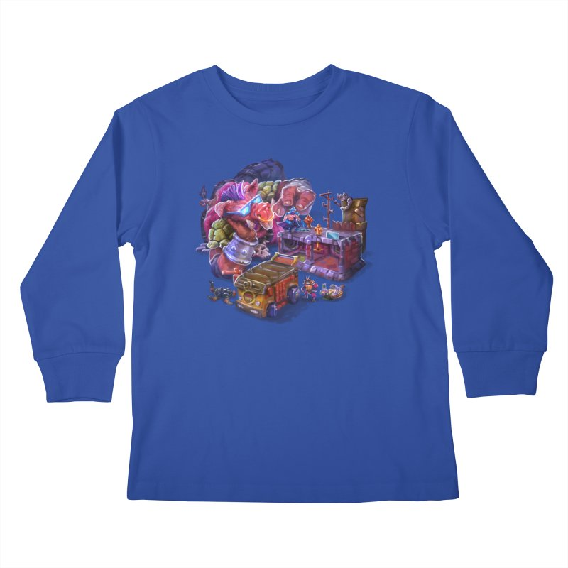 Toytles Kids Longsleeve T-Shirt by dustinlincoln's Artist Shop