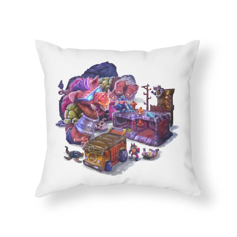 Toytles Home Throw Pillow by dustinlincoln's Artist Shop
