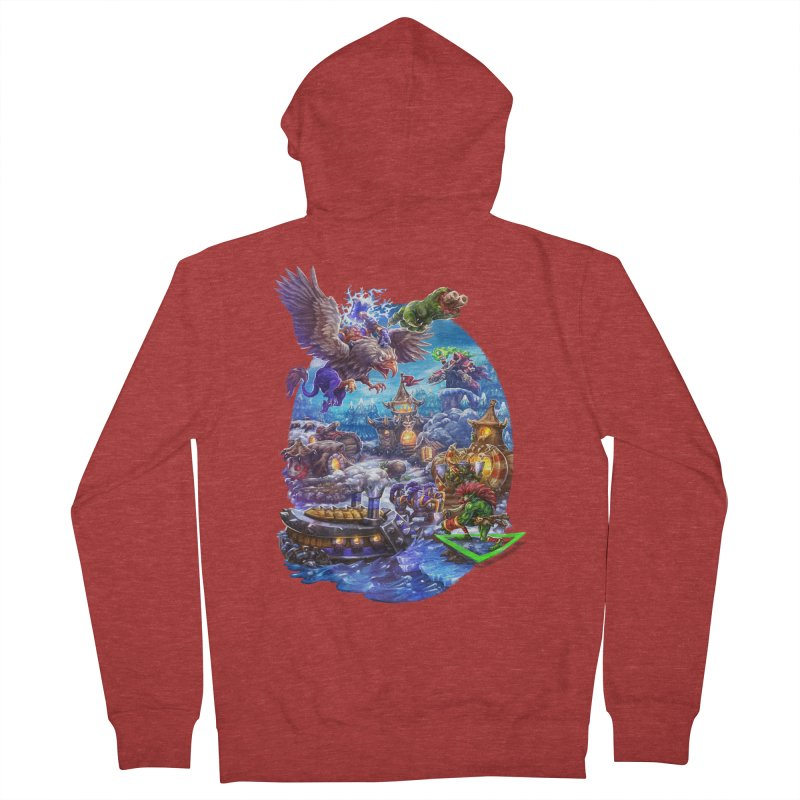 ZugZug Men's French Terry Zip-Up Hoody by dustinlincoln's Artist Shop