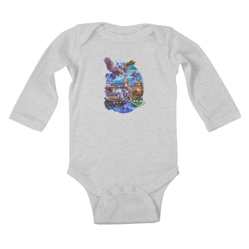 ZugZug Kids Baby Longsleeve Bodysuit by dustinlincoln's Artist Shop