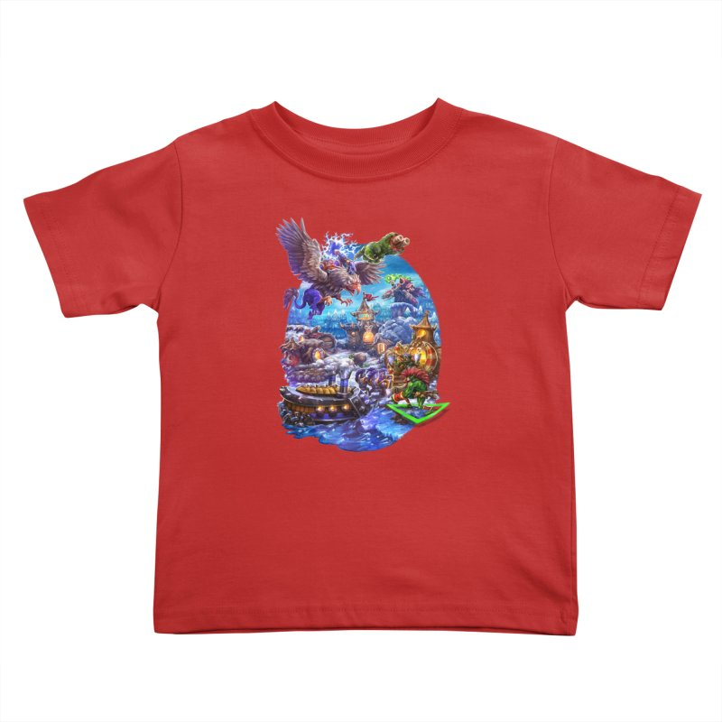 ZugZug Kids Toddler T-Shirt by dustinlincoln's Artist Shop