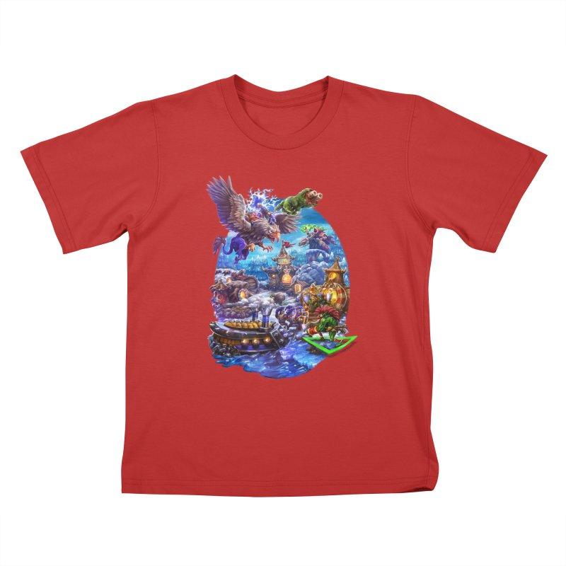 ZugZug Kids T-Shirt by dustinlincoln's Artist Shop