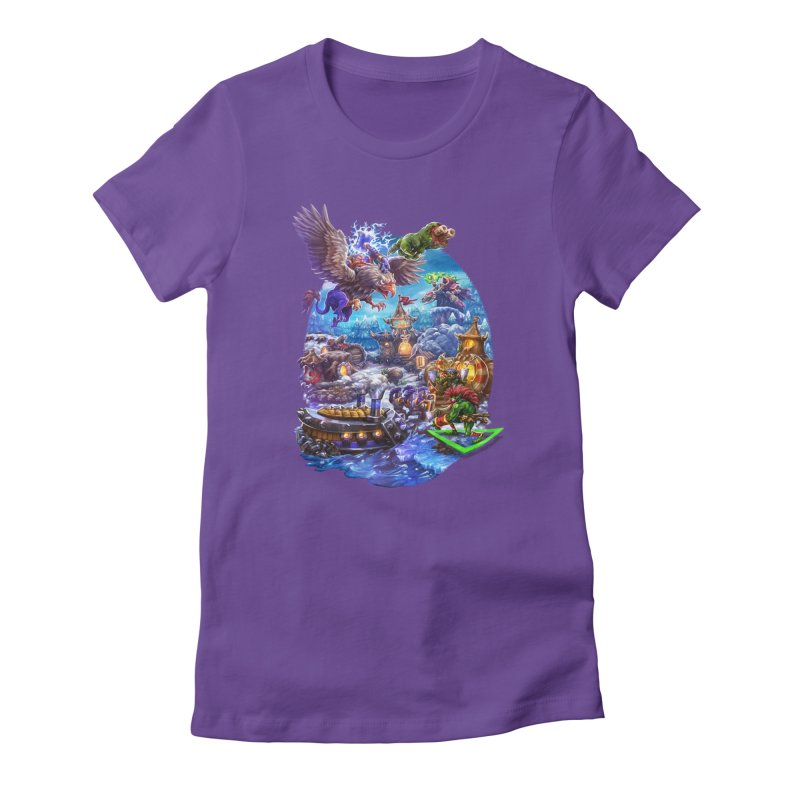 ZugZug Women's Fitted T-Shirt by dustinlincoln's Artist Shop