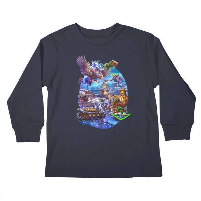 ZugZug Kids Longsleeve T-Shirt by dustinlincoln's Artist Shop