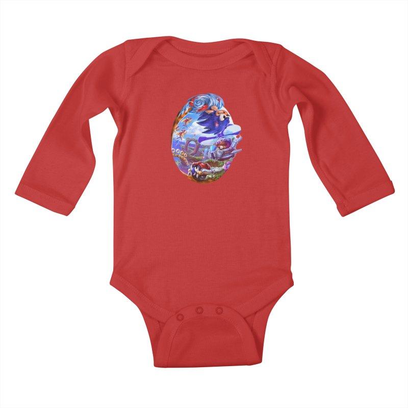 GottaGoFast Kids Baby Longsleeve Bodysuit by dustinlincoln's Artist Shop