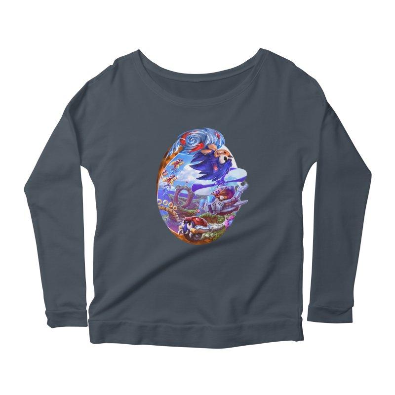 GottaGoFast Women's Scoop Neck Longsleeve T-Shirt by dustinlincoln's Artist Shop