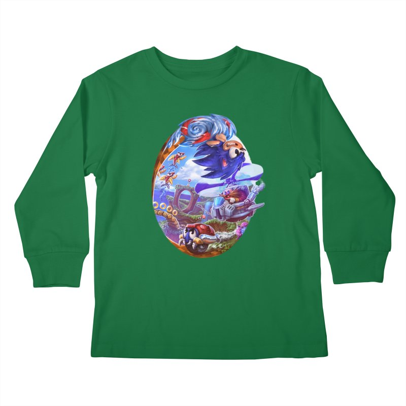 GottaGoFast Kids Longsleeve T-Shirt by dustinlincoln's Artist Shop