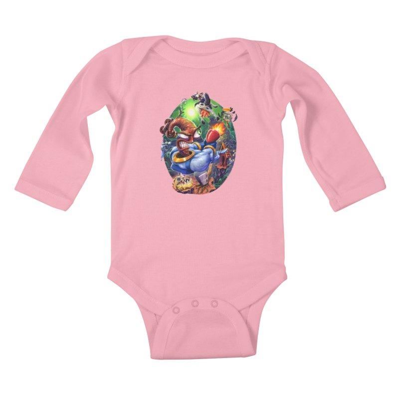 Grooovy! Kids Baby Longsleeve Bodysuit by dustinlincoln's Artist Shop