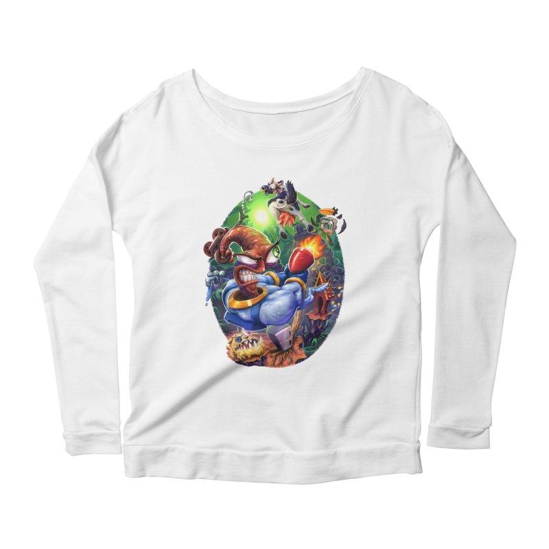 Grooovy! Women's Scoop Neck Longsleeve T-Shirt by dustinlincoln's Artist Shop
