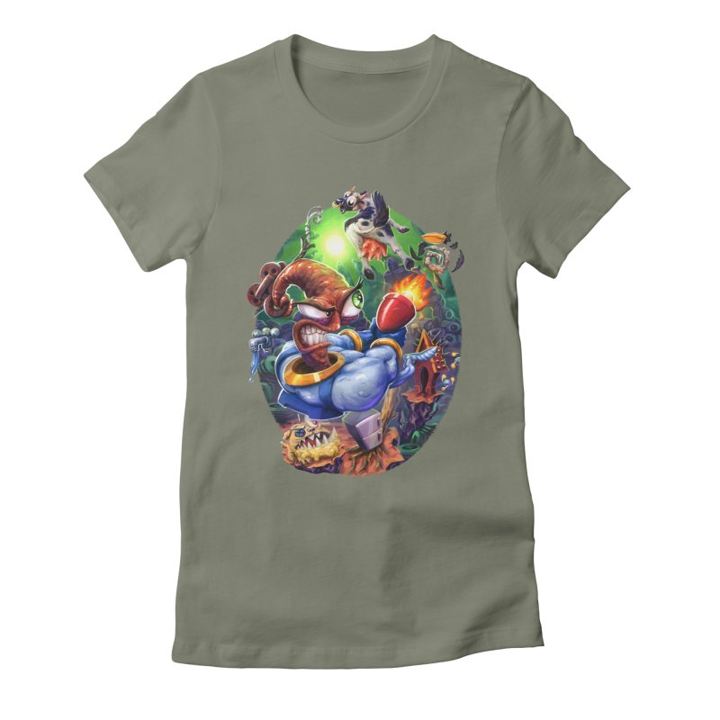 Grooovy! Women's Fitted T-Shirt by dustinlincoln's Artist Shop