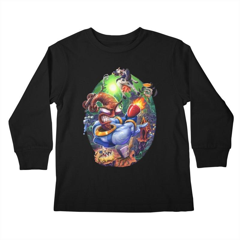 Grooovy! Kids Longsleeve T-Shirt by dustinlincoln's Artist Shop