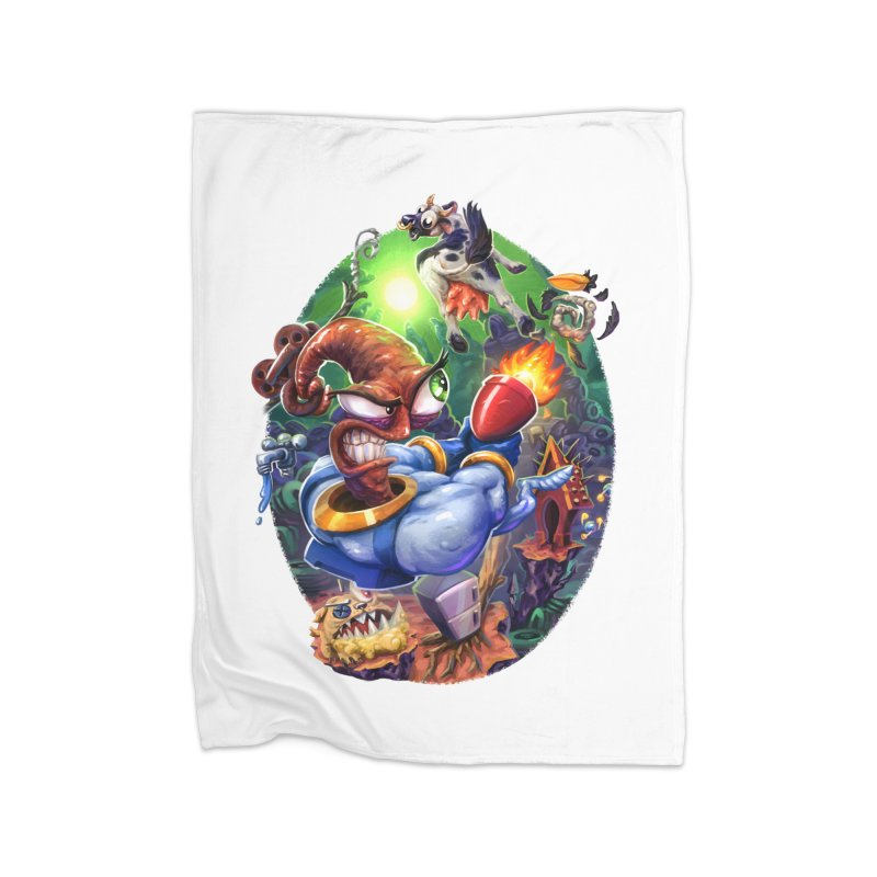 Grooovy! Home Fleece Blanket Blanket by dustinlincoln's Artist Shop