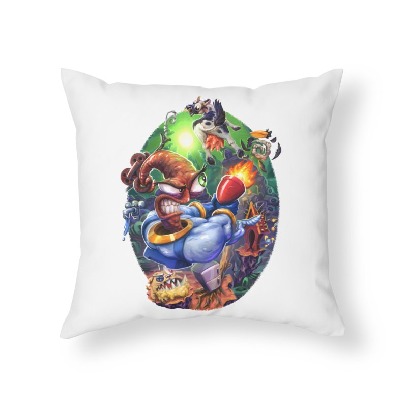 Grooovy! Home Throw Pillow by dustinlincoln's Artist Shop