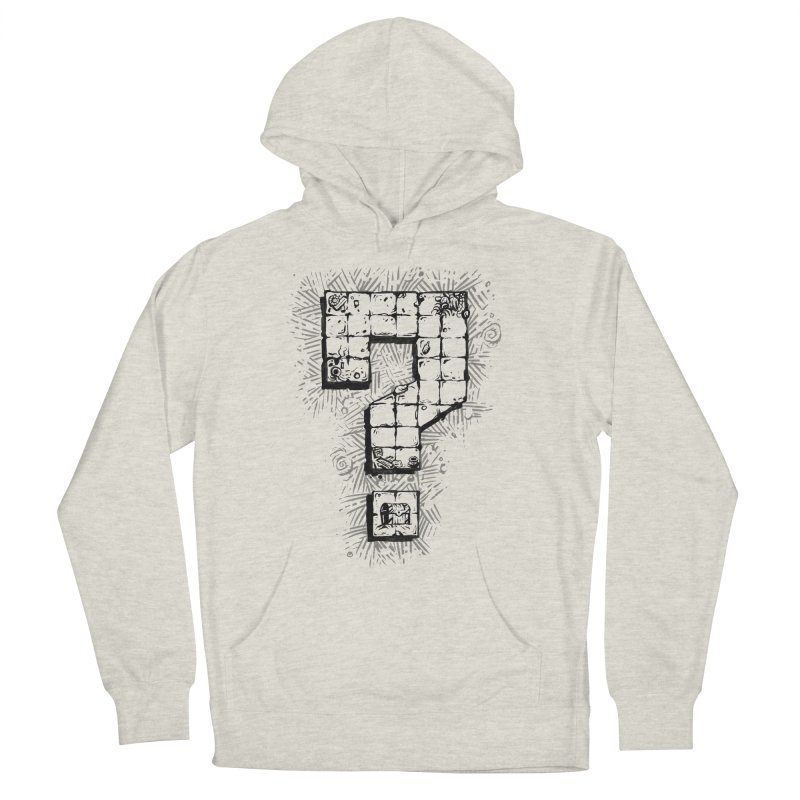 Dungeon Treasure Map Women's French Terry Pullover Hoody by dustinlincoln's Artist Shop