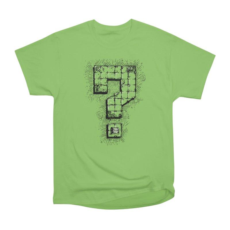 Dungeon Treasure Map Men's Heavyweight T-Shirt by dustinlincoln's Artist Shop