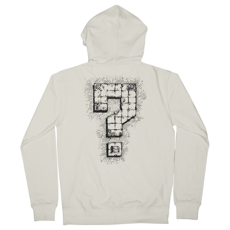 Dungeon Treasure Map Women's French Terry Zip-Up Hoody by dustinlincoln's Artist Shop