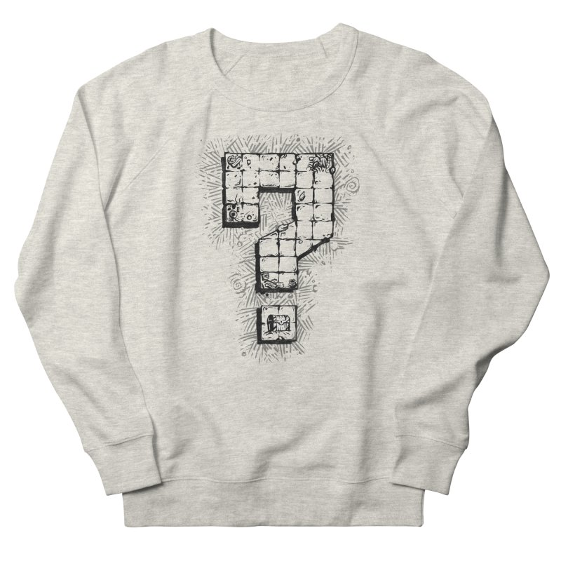 Dungeon Treasure Map Men's French Terry Sweatshirt by dustinlincoln's Artist Shop
