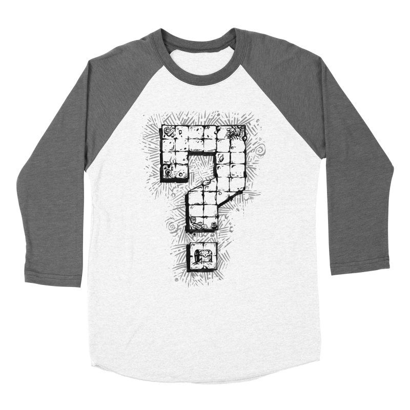 Dungeon Treasure Map Men's Baseball Triblend Longsleeve T-Shirt by dustinlincoln's Artist Shop