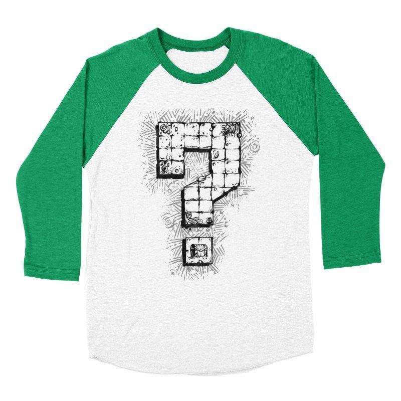 Dungeon Treasure Map Men's Baseball Triblend Longsleeve T-Shirt by dustinlincoln's Artist Shop