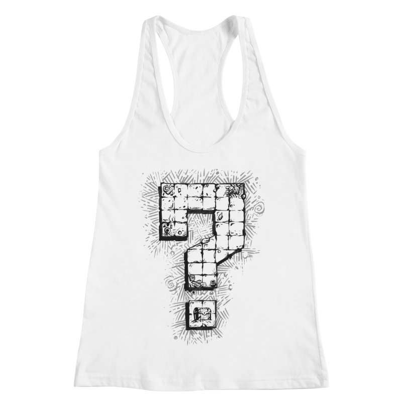 Dungeon Treasure Map Women's Racerback Tank by dustinlincoln's Artist Shop