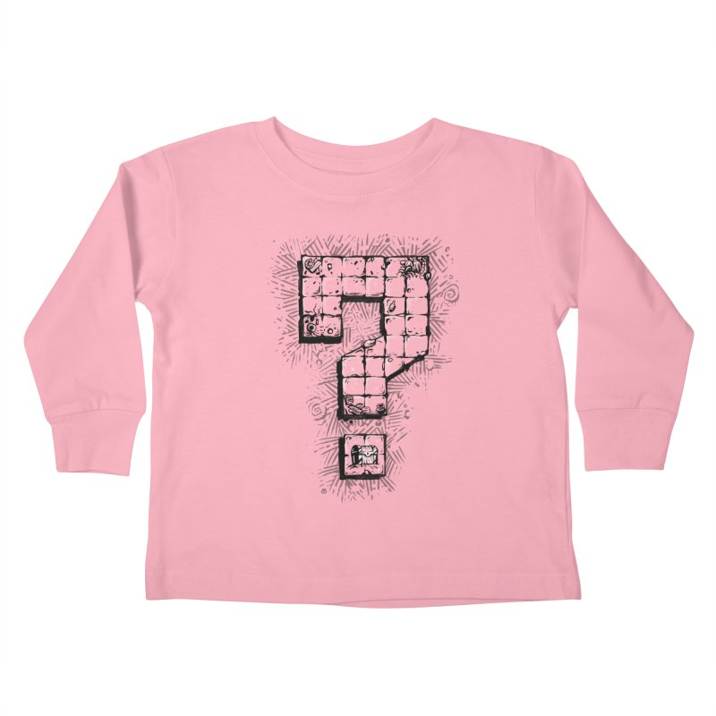 Dungeon Treasure Map Kids Toddler Longsleeve T-Shirt by dustinlincoln's Artist Shop