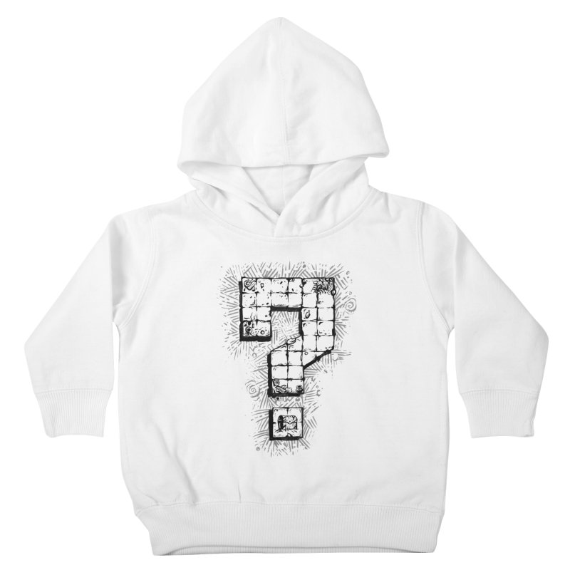 Dungeon Treasure Map Kids Toddler Pullover Hoody by dustinlincoln's Artist Shop