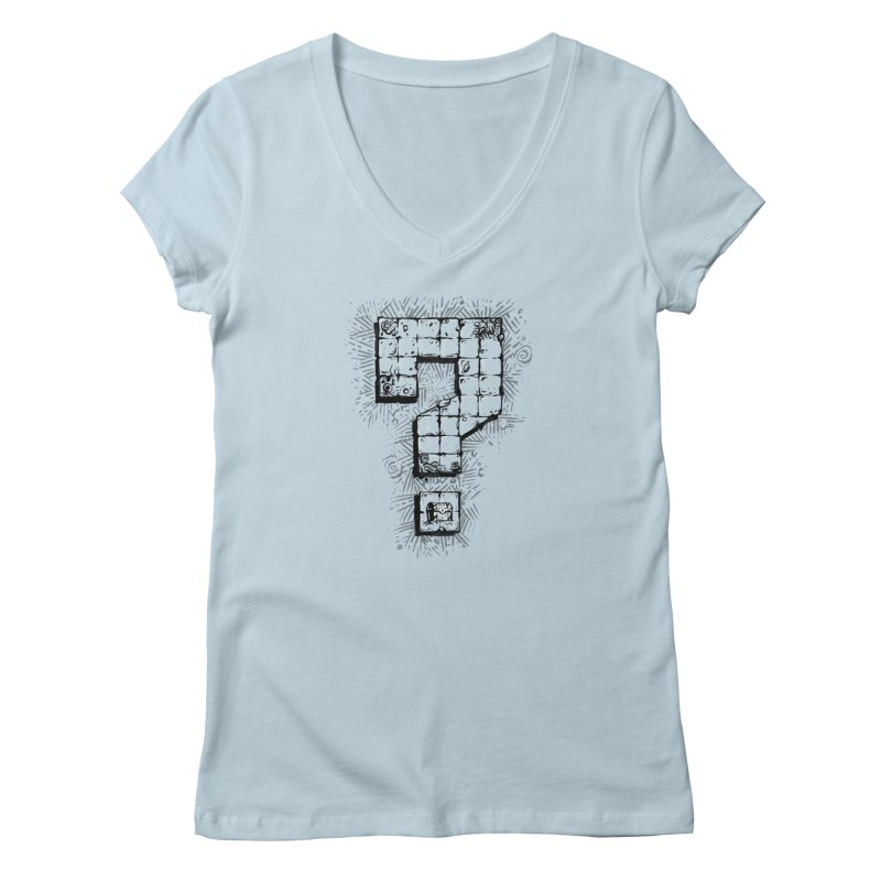 Dungeon Treasure Map Women's V-Neck by dustinlincoln's Artist Shop