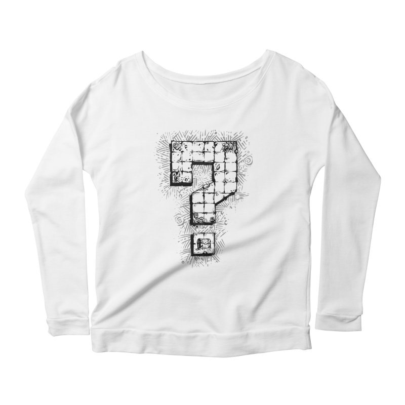 Dungeon Treasure Map Women's Scoop Neck Longsleeve T-Shirt by dustinlincoln's Artist Shop
