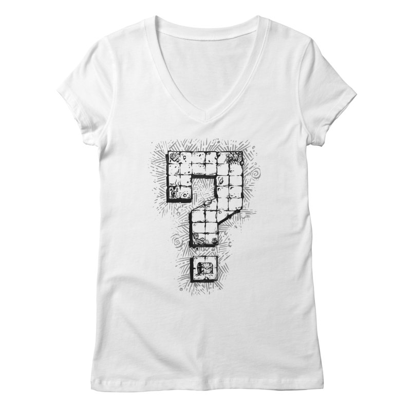Dungeon Treasure Map Women's Regular V-Neck by dustinlincoln's Artist Shop