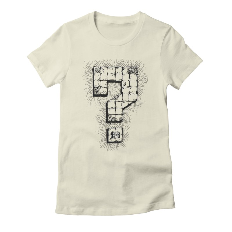 Dungeon Treasure Map Women's Fitted T-Shirt by dustinlincoln's Artist Shop