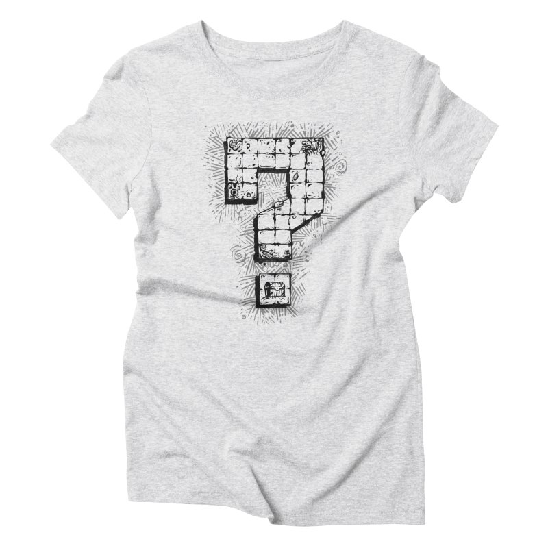 Dungeon Treasure Map Women's Triblend T-Shirt by dustinlincoln's Artist Shop
