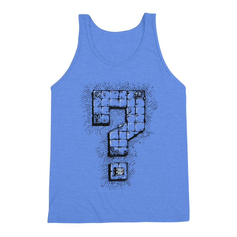 Dungeon Treasure Map Men's Triblend Tank by dustinlincoln's Artist Shop
