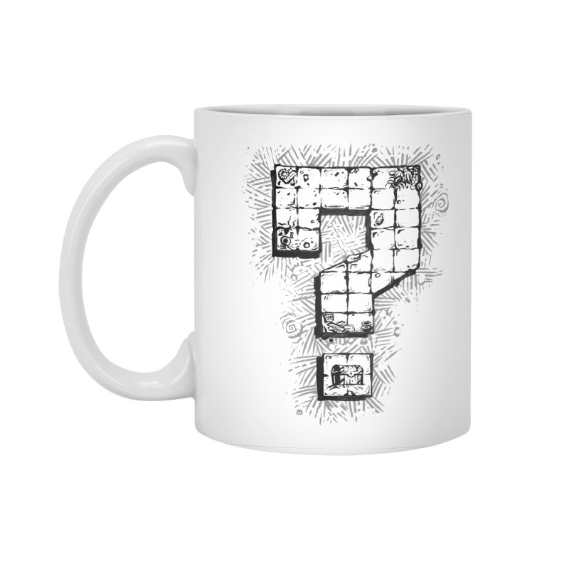Dungeon Treasure Map Accessories Standard Mug by dustinlincoln's Artist Shop