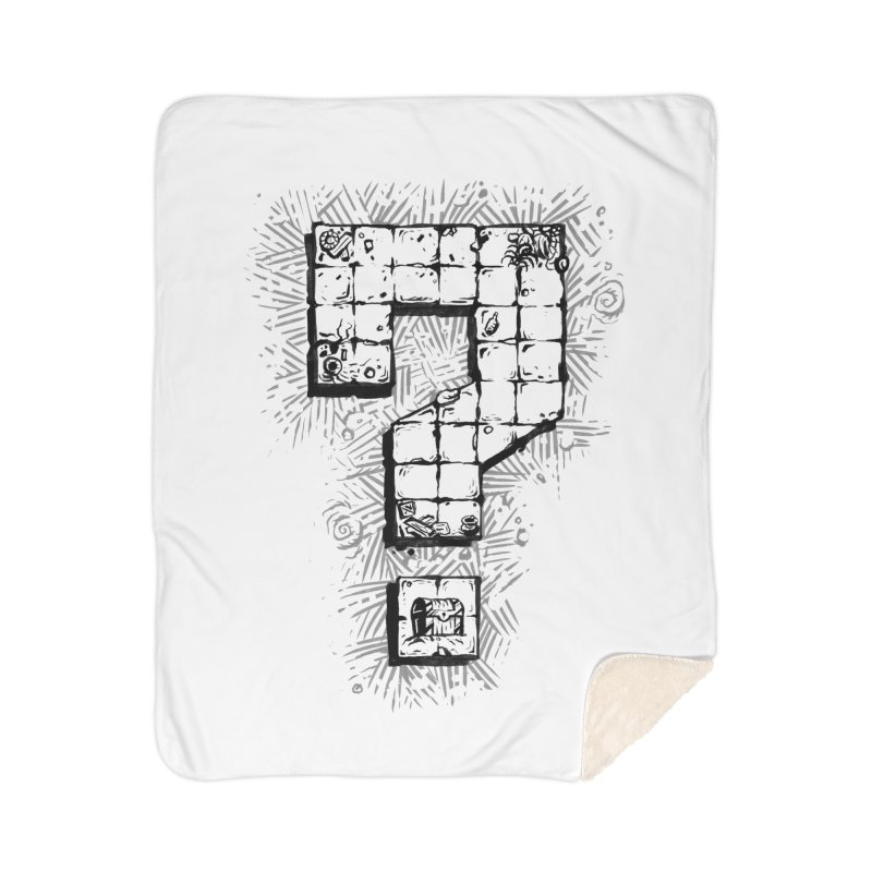 Dungeon Treasure Map Home Sherpa Blanket Blanket by dustinlincoln's Artist Shop