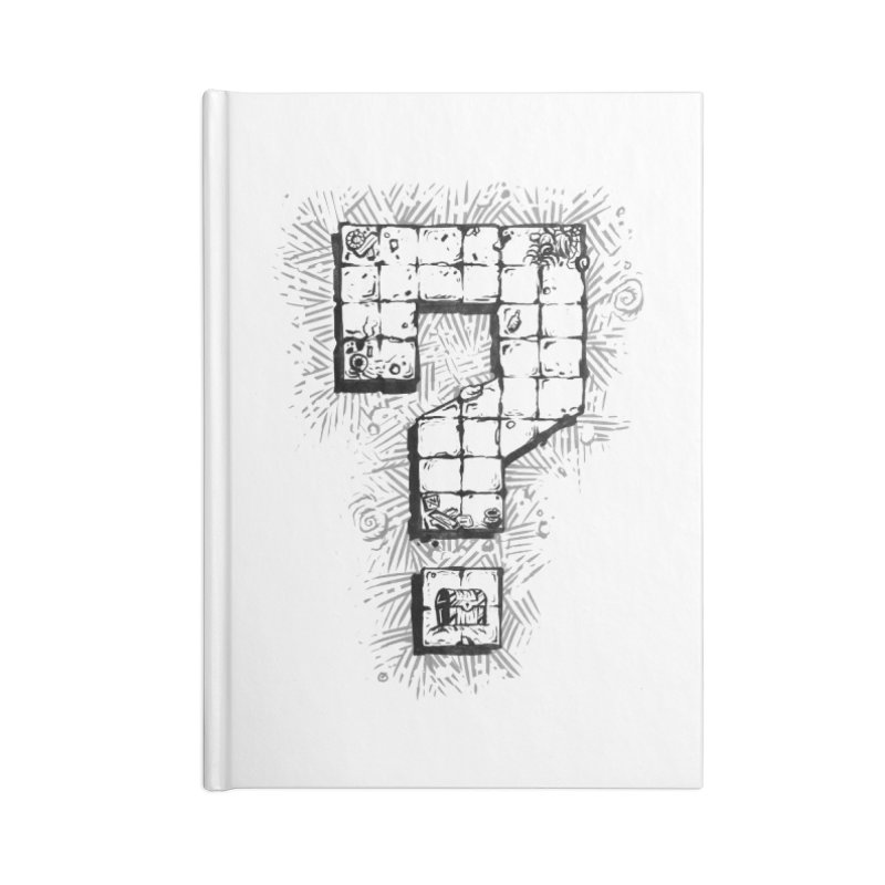 Dungeon Treasure Map Accessories Lined Journal Notebook by dustinlincoln's Artist Shop