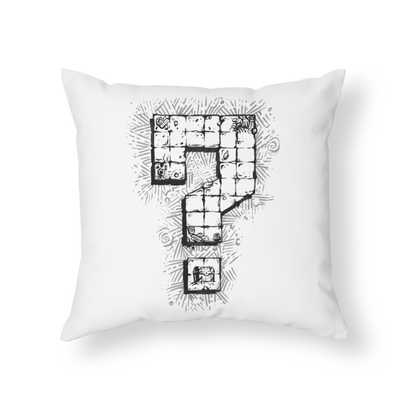 Dungeon Treasure Map Home Throw Pillow by dustinlincoln's Artist Shop