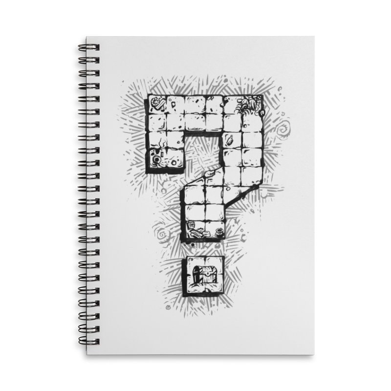 Dungeon Treasure Map Accessories Lined Spiral Notebook by dustinlincoln's Artist Shop