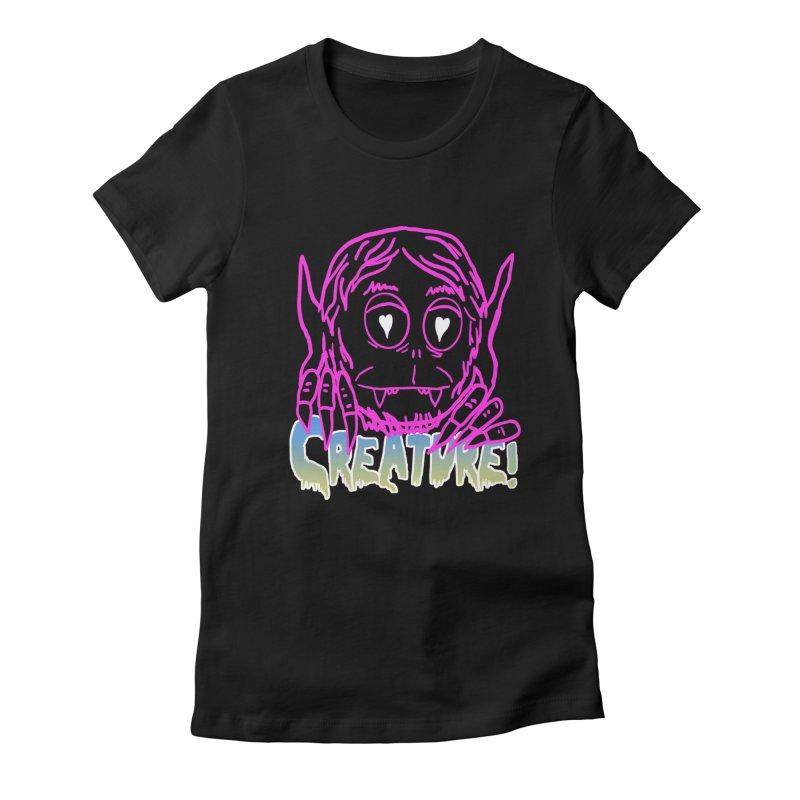 Creature electro 80's style Women's T-Shirt by dustinmckamie's Artist Shop