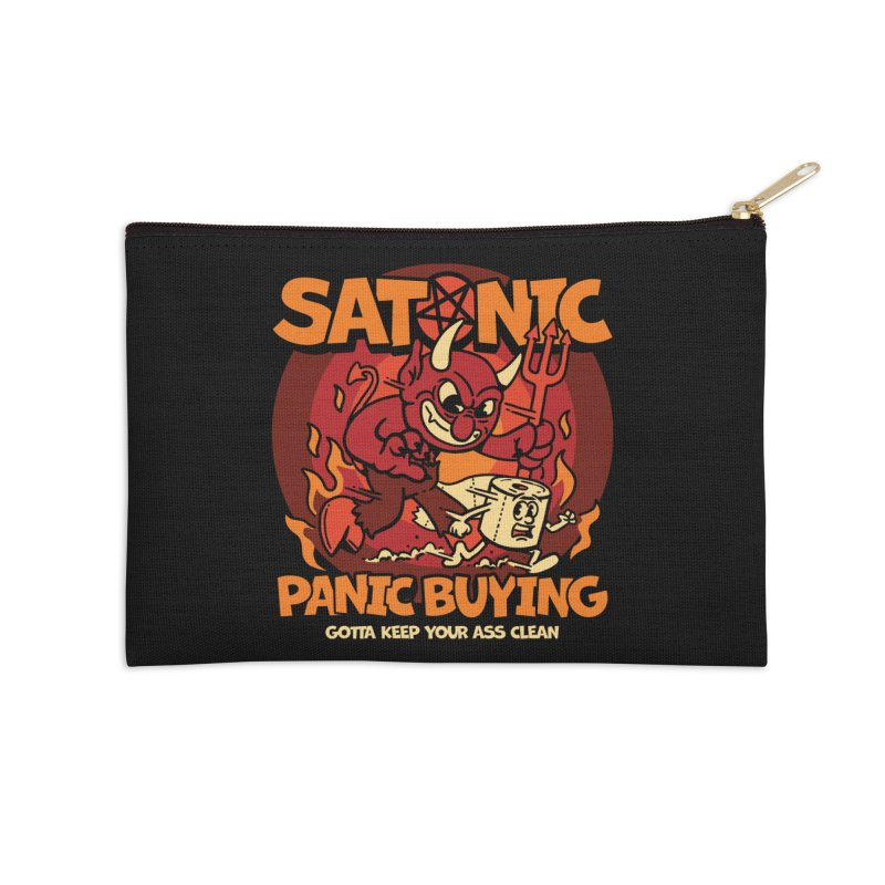 Satanic Panic Buying Accessories Zip Pouch by dustinwyattdesign's Shop