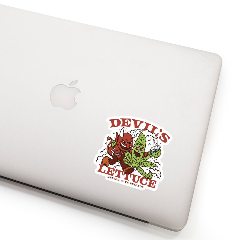 Devil's Lettuce Accessories Sticker by dustinwyattdesign's Shop
