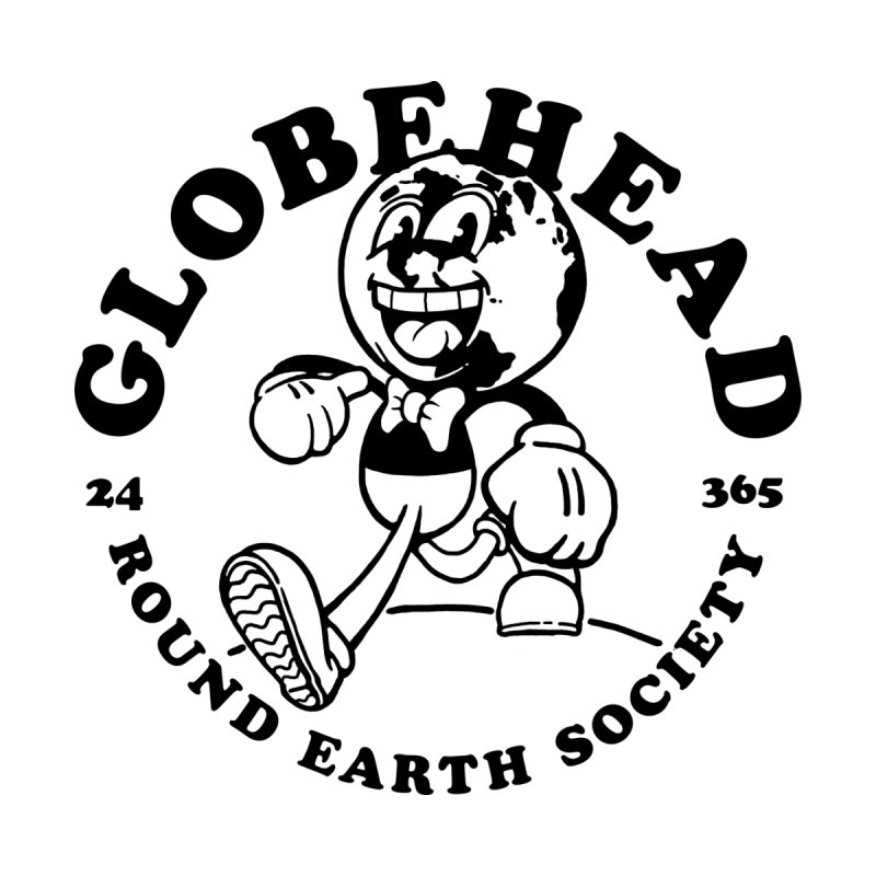 Globehead - Round Earth Society Accessories Sticker by dustinwyattdesign's Shop