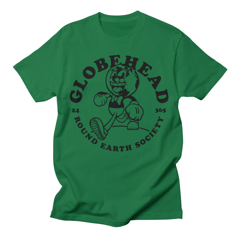 Globehead - Round Earth Society Men's T-Shirt by dustinwyattdesign's Shop