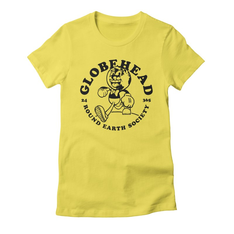 Globehead - Round Earth Society Women's T-Shirt by dustinwyattdesign's Shop