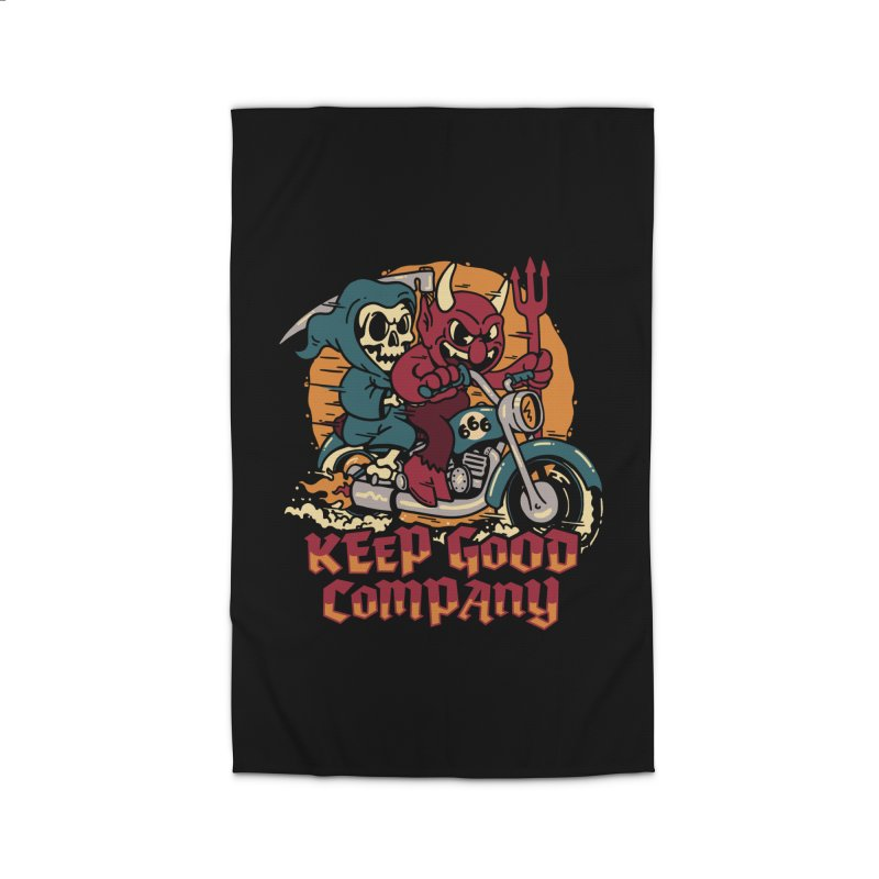 Keep Good Company Home Rug by dustinwyattdesign's Shop