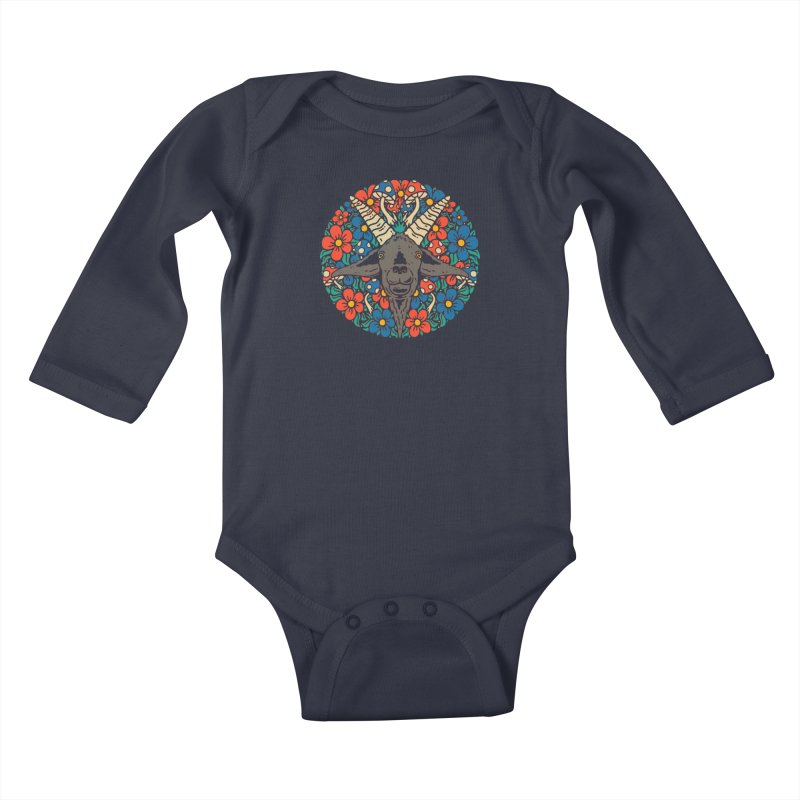 Pentagoat Kids Baby Longsleeve Bodysuit by dustinwyattdesign's Shop