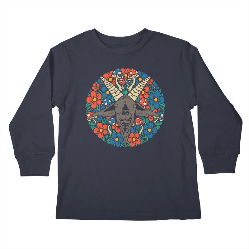Pentagoat Kids Longsleeve T-Shirt by dustinwyattdesign's Shop
