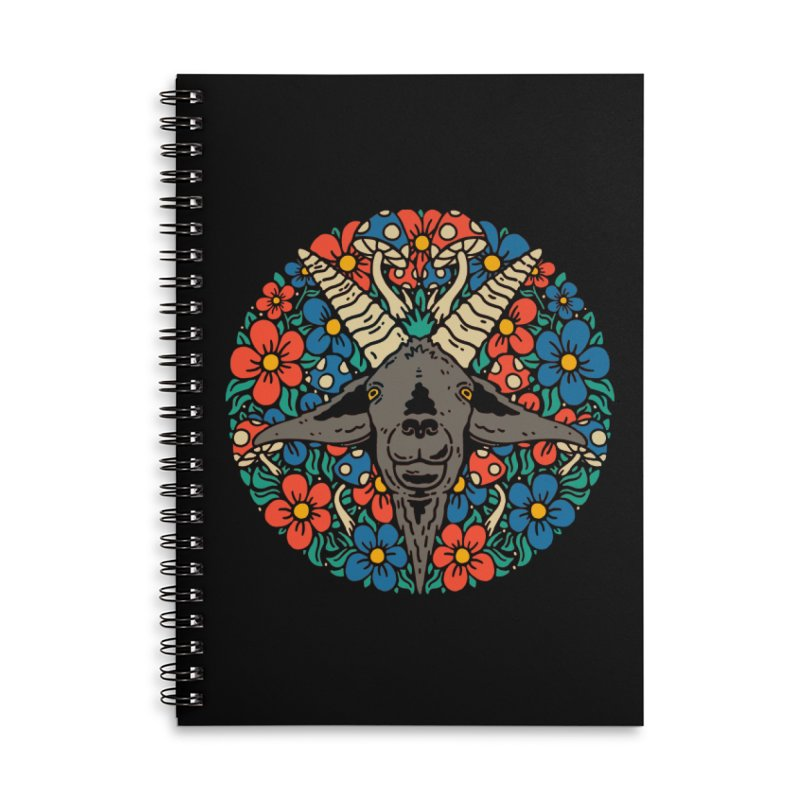 Pentagoat Accessories Notebook by dustinwyattdesign's Shop